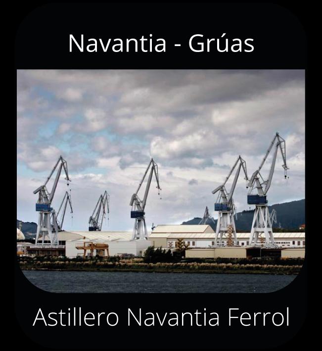 Navantia - Grúas - Astillero Navantia Ferrol