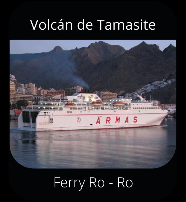 Volcán de Tamasite - Ferry Ro-Ro