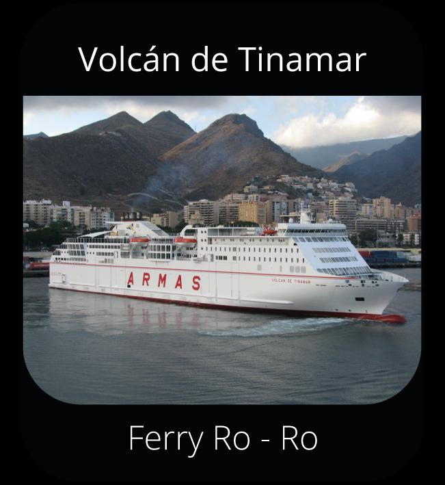Volcán de Tinamar - Ferry Ro-Ro