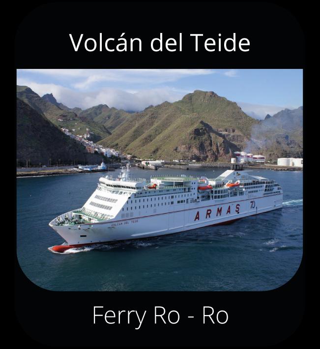 Volcán del Teide - Ferry Ro-Ro