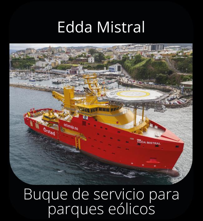 Edda Mistral - Buque servicio para parques eólicos
