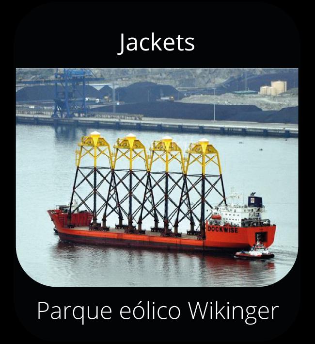Jackets -Parque eólico Wikinguer